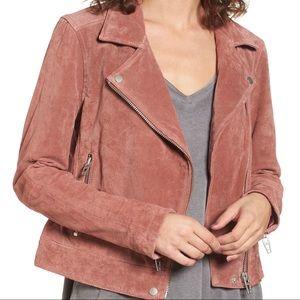 Blank NYC • Suede Moto Jacket Coral Cedar